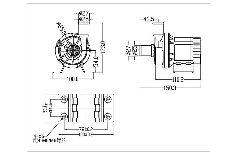DC60B-dimensions