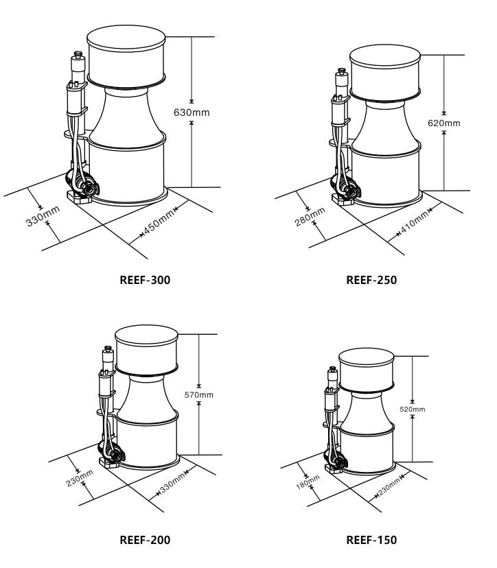 Protein Skimmer-Dimensions